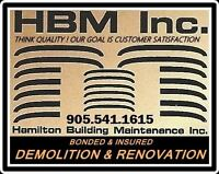 Demolition and complete Maintenance