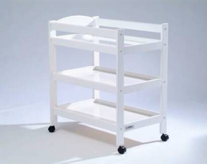 Tasman Eco Turin Nappy Change Table -White with a Mat Included
