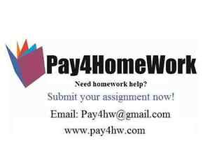We complete homework for students. Any subject!