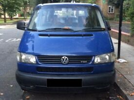 BLUE VW CARAVELLE HAD IT FOR 8 YRS NO PROBLEM FOLDABLE 8 SEATS NEEDS LITTLE REPAIR CAN BE USED PARTS