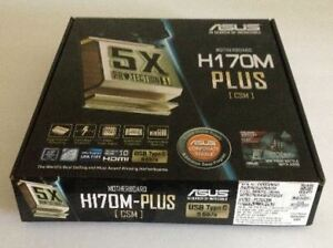 New Asus  H170M-PLUS  Micro ATX Mobo  Never unpacked $95