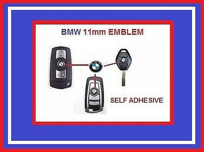 BMW REMOTE KEY FOB KEYLESS ENTRY EMBLEM STICKER REPLACEMENT ALL BMW WITH 11mm