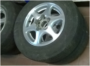 4 used mags/alloy rims/jantes/wheels for $65 – good condition