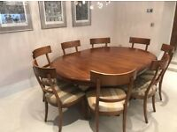 Wood Table and Roche Bobois 8 Chairs