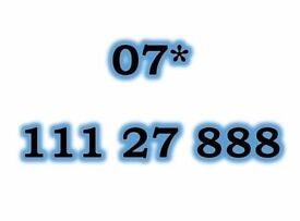 07* 111 27 888 Gold O2 Mobile Phone Number Sim Card