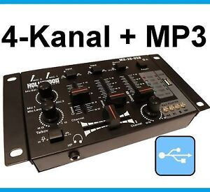 4-Kanal USB-Port DJ PA Mischpult Mixer MX-30-USB black