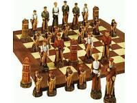 Anne Carlton History of Golf chess set
