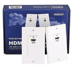 HDMI Wall Plate (Pair) Over CAT5E / CAT6 with Built-in Extender