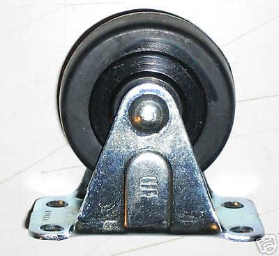 2 Diameter Non-swivel Rigid Imported Hard Rubber Wheel Casters