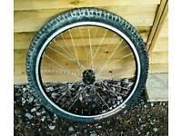 "26"" MTB front wheel. Combat RIM Dh Intense Ture"