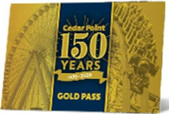 CEDAR POINT 2020 + 2021 GOLD PASS EARLY ENTRY PARKING AND DISCOUNTS FOR 2 YEARS