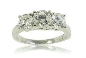 NEW-14K-White-Gold-Certified-3-stone-Diamond-Ring-1ct-HIcol-I1-2cla-sz-7-3199
