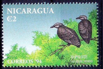 Black vulture, Zopilote, Birds of Prey, Nicaragua 1994 MNH  - M72