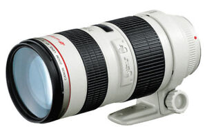 Canon 70-200mm F2.8 L IS II Lens with Sigma WR Protector
