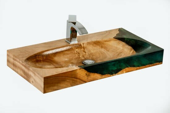 Wooden basin with epoxy - bespoke – Aequor   in Leicester, Leicestershire    Gumtree
