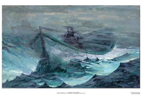 "NIGHT GALLERY Rod Serling LONE SURVIVOR Original Art Print Poster Wright 13x19"""