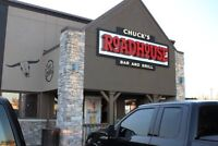 Chucks Roadhouse now hiring managers