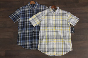 RVCA Men's Cationic Plaid Button Up Shirt size Small