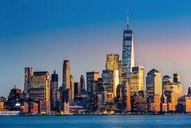 1 return flight ticket London - New York 22.NOV - 27.NOV