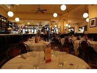Waiter/waitress needed La Brasserie London SW32AW French restaurant