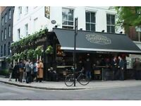 Full time Bar Staff position in this Beautiful pub in the heart of Fitzrovia