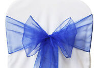 Royal Blue Organza Sashes for Sale