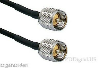 2 Ft Times Microwave Lmr-240 Pl-259 To Pl-259 Coax Commercial Ham Radio Cable