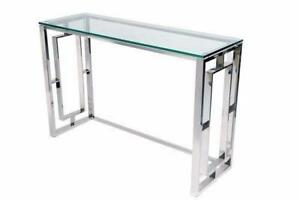 SILVER CONSOLE TABLE SALE (BF-144)