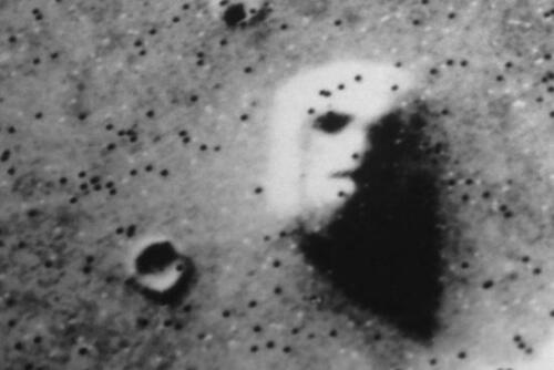 The Face on Mars Art Poster Print. Government Conspiracy Ancient Aliens