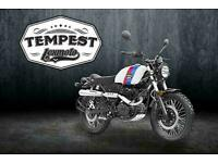 Lexmoto Tempest 125cc- Motorcycle- Srambler Model- Now In Stock
