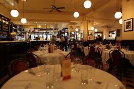 Receptionist needed La Brasserie restaurant SW32AW
