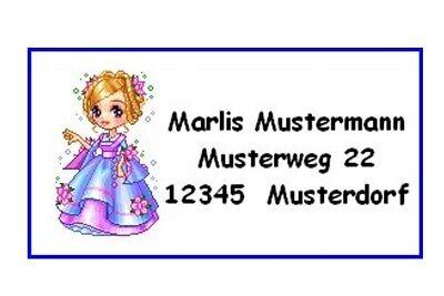 MN295#40 Adressaufkleber  *Dollz Puppen Nr.6 * Etiketten Aufkleber Schulbuch