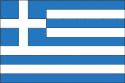 "GREECE FLAG 18"" X 12"" for boats treehouses caravans boat caravan flags GREEK"