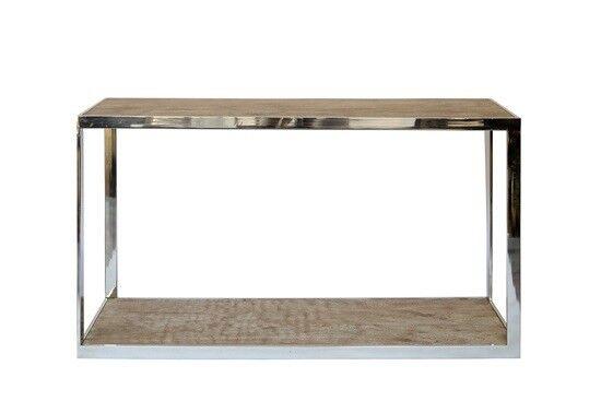 BRAND NEW WITH TAGS prado console table SOLID WOOD AND STAINLESS STEEL RRP£599.00