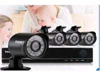 Complete 4 camera HD CCTV system - brand new