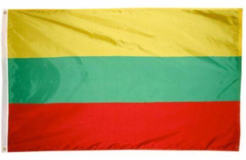 The flag of Lithuania, Lietuvos vėliava 3 X 5 ft BRAND NEW !