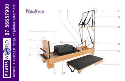 PILATES REFORMER   HALF TRAPEZE   PILATES WORLD   FREE DELIVERY  