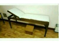 Adjustable wooden examination couch