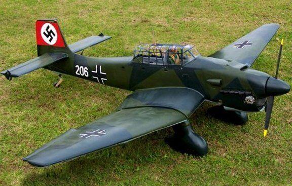 "Scale  STUKA -JU 87  71""    Giant   RC Model AIrplane Printed Plans"