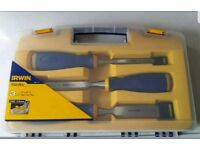 Irwin Marples MS500 Soft Touch Bevel Edge Chisel - 3 Piece Set