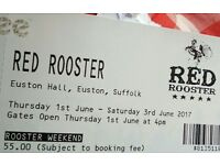 Two Weekend Tickets for Red Rooster Festival