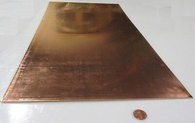 101 Copper Sheet 18 To 14 Hard .050 Thick X 12.0 Wide X 24.0 Length