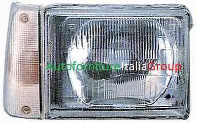 FARO FANALE PROIETTORE ANTERIORE DX MANUALE F/BIANCA FIAT PANDA 1986>2003