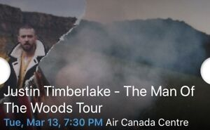 """2  - Justin Timberlake """"Man of the Woods"""" tour tickets"""