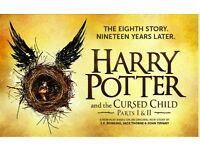 x2 Harry Potter & The Cursed Child Part 1 & Part 2 Theatre Tickets