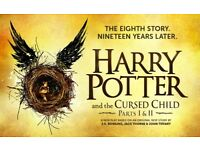 1x Harry Potter and The Cursed Child ticket Wed 27 Sep Parts 1&2 Dress Circle Row G