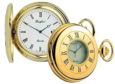 Pocket Watch Plain Gold Plated Half Hunter  Woodford  1211 ()