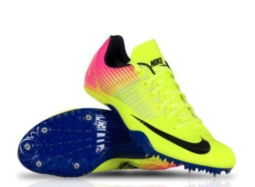 Nike Zoom Celar 5 Track Sprint Pink Volt Cleats Shoes 882023-999 Mens 11.5