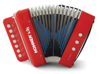 Hohner Kids Accordion Musical Player w/ Songbook Instrument Toy Red Ages 4 & up
