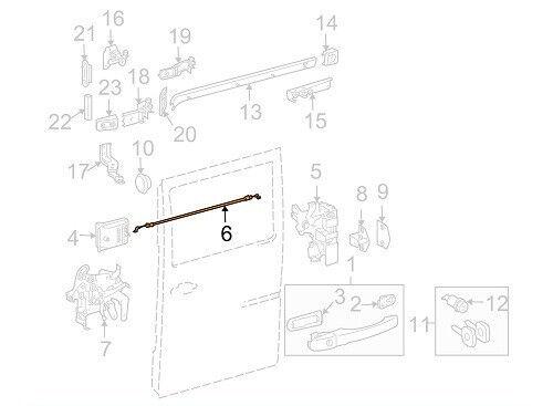 Side Loading Door Lock Cable for Mercedes Sprinter Dodge